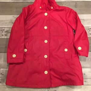 Kids Hatley Terry-Lined Red Raincoat (5)